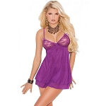 Amethyst Double Layered Chemise Elegant Moments