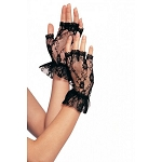 Fingerless Lace Gloves in Black Leg Avenue