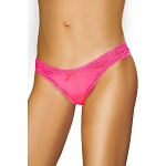 Hot Pink Staple Thong Roma Lingerie