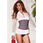 Womens Lingerie Suit Inspired Cincher Gray XL